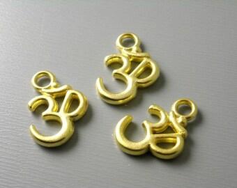 CHARM-G-OHM-0.45 - 18k Gold Filled Ohm Charm - 2 pcs