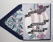 Girls' Nights & Days - Valentines Card, Lesbian, LGBT, for her, wife, girlfriend, same sex