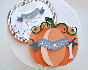 Pumpkin Birthday Invitation