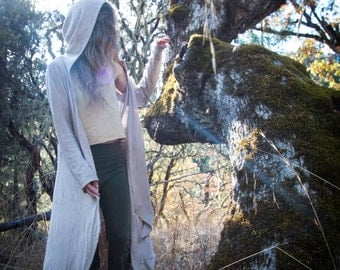 Nyhm Jacket - Organic Cotton - Hemp - Womens Cloak - Natural Clothing - Juniperous