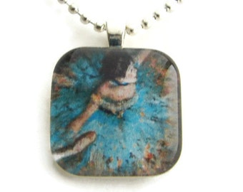 Aqua Ballerina Pendant with Free Necklace