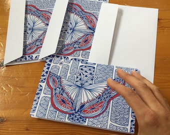 Mariposa Greeting cards, Set of THREE FOLDED CARDS