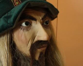 marionette Green Wizard marioneta puppet ooak artdoll títere