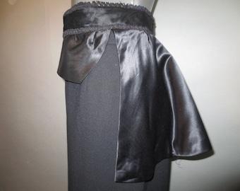 "Victorian Bustle // Bustle Belt Over Skirt // Weighted Satin ...36"" long"