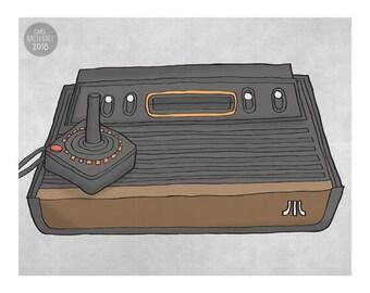 Atari 2600 Games Console - Illustration Print