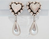 Brenda Schoenfeld Ornate Sterling Silver Heart Dangle Earrings