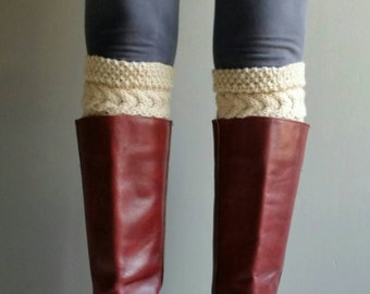 Knitted Boot Cuffs Boot Socks