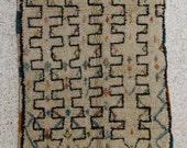 230x125 cm (7,6X4,1 feet)FREE SHIPPING WORLDWIDE AZ26119 Azilal ,Ourika ,Beni Ourain vintage berber rug Morocco,wool carpet , boucherouite
