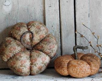 Primitive Fall Pumpkin Handmade Farmhouse Autumn Harvest Decor