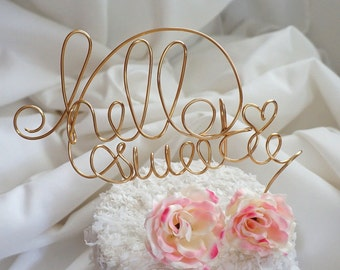 Script Customized  Cake Topper, 2 Lines