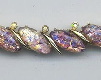 Gorgeous vintage collar showcasing phenomenally beautiful glass opal stones