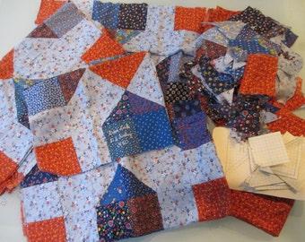 Vintage Calico Quilt Piecespl