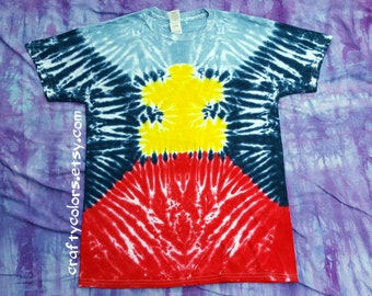 Tie Dye Autism Awareness T Shirt Adult Size