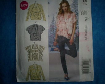 McCalls 6651 Size 16-18-20-22-24  Pullover Top.