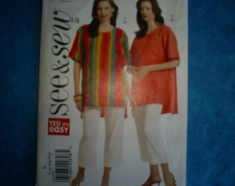 Butterick 5344 Size 16-18, 20-22, 24-26 Tunic and Pants.