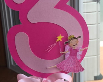 Pinkalicious Centerpiece with Age, Choice of Colors and Age