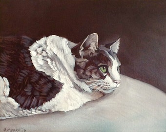 Custom Pet Portrait - Cat Painting - Custom Cat Art - Acrylic Painting on Canvas - various canvas sizes available