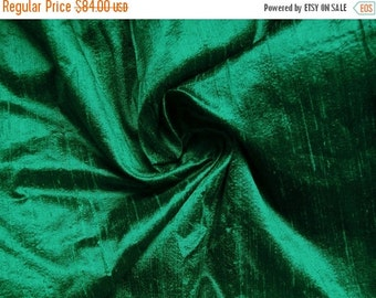 15% Off Wholesale fabric 6 yards of 100 Percentpure dupioni silk in jade green