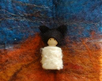 Sheep peg doll