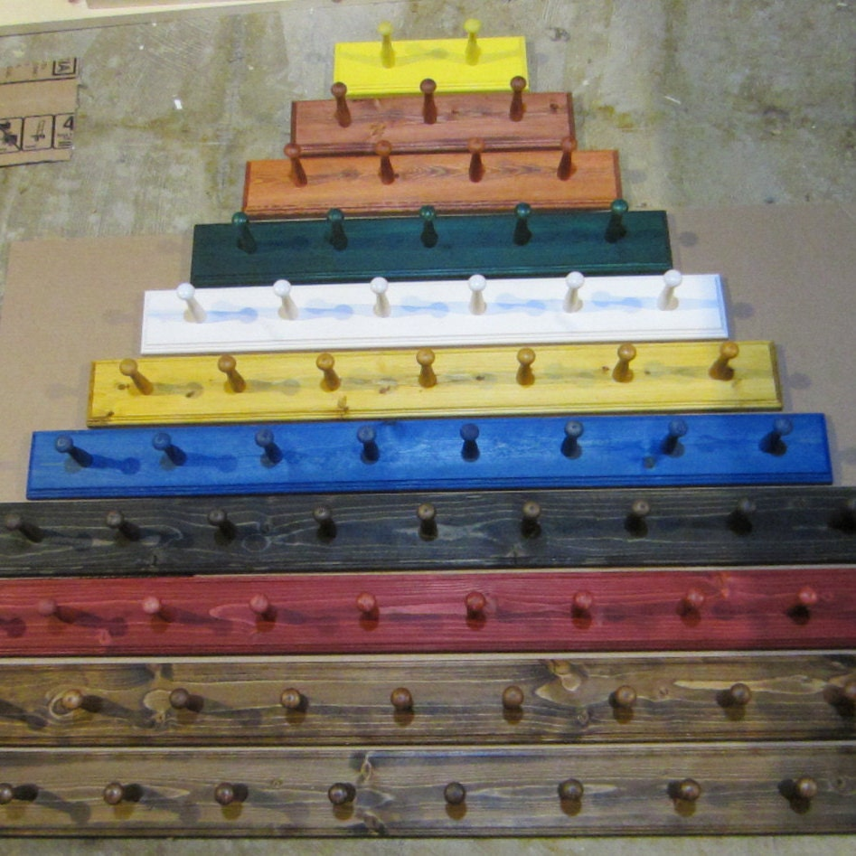Shaker Peg Rails: Coat Rack Shelf Shaker Peg Rail By SonshineWoodProducts On