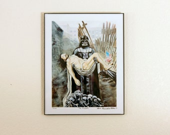 "Darth Vader, Caravaggios Christ and the Rubble of the World Trade  - Giclee Print - 11"" x 14"""