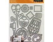 Cricut Cuttlebug Cut & Emboss Die Set - LOST AND FOUND