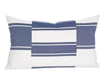 Nomad lumbar pillow cover in Indigo
