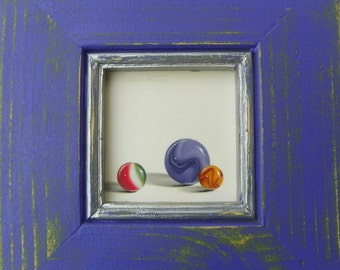 original oil painting of marbles by ann osenga