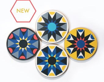 NEW 'Galaxy' geometric coasters