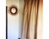 "Set of 2 No Odor Burlap Curtains 50"" Wide  Pick Your Length Burlap Curtain Panels Rustic Chic Home Decor Burlap Window Treatment"