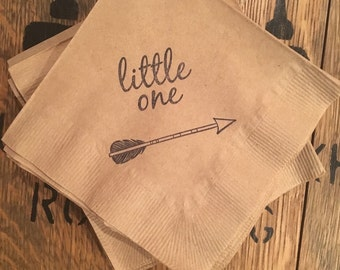 Little One / Arrow Beverage Napkins / Set of 50 / Perfect for Parties / Recycled Paper Product / Dessert Bar / Wild and Free