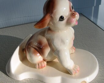 Vintage Maddux of California Pottery Dog Figurine
