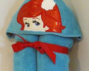 Ariel Princess Hooded Towel
