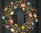 Easter Wreath - Easter Decor - Easter Decoration -  Rustic Egg Wreath