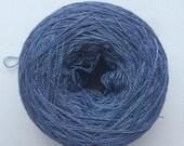 Slate blue- Mulberry silk 100% (2ply ,) handdyed yarn 50g.