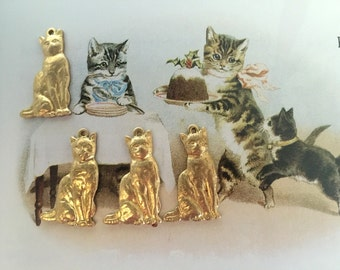 Best Cat Charm with Ring (4 pc)