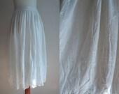 Vintage Skirt - 1980's White Midi Skirt from Cartoon - Size M