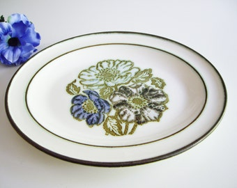 Vintage, Wedgwood Platter, Iona, Blue, Purple, Turquoise, Flowers, Raised Design, Oval Platter, Serving Dish, Made in England