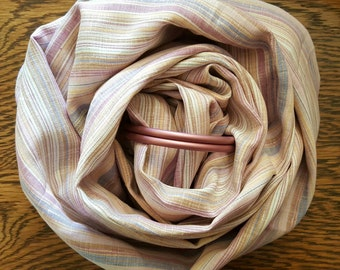 Multi-Stripe Linen Ring Sling - Double Layer Linen - Custom Order