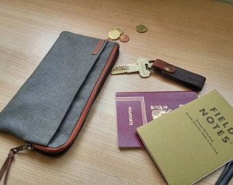 Travel wallet- passport holder /card holder/gift for him/gift for her/travel accessories