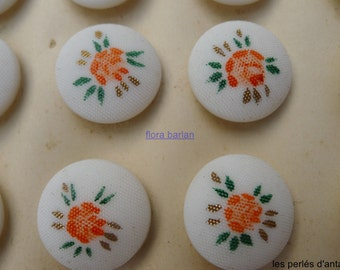 12 glass buttons vintage