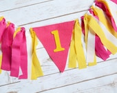 You are my sunshine birthday party - high chair banner - 1st birthday decor - pink lemonade birthday - baby 1st Birthday Banner