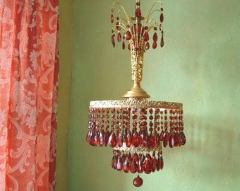 Crystal Chandelier of Ill Repute, Handmade, Large and Trampy, Layaway Available