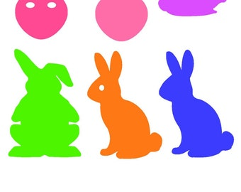 DIY Easter Bunny Egg Vinyl Graphics 2 Colors