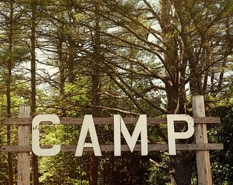 nostalgic art print // summer wall art // maine woods lake photograph - Camp, photography print