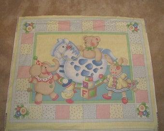 Colorful baby quilt panel - panel only - it is not quilted - ready for you to finish