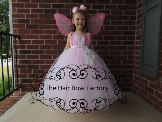 The Hair Bow Factory Tooth Fairy Inspired Pink and White Tutu Dress