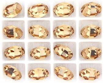 Swarovski 4100 Light Colorado Topaz  10x8mm Vintage Crystal Stones Foiled