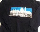 1980's Washington DC sweatshirt, fits like a medium