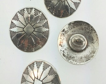Southwest style silver buttons